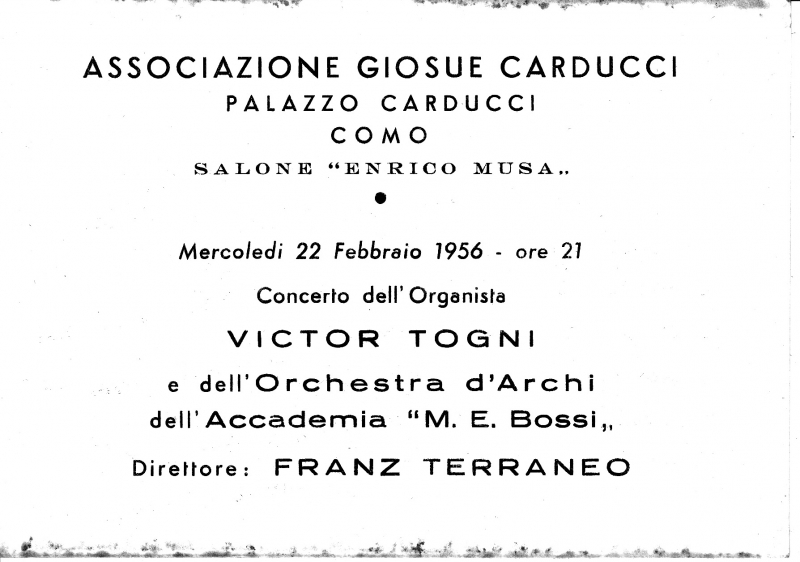 Carducci Musa Concert Hall - Como