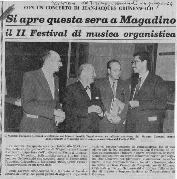 2nd Magadino Festival Grunenwald concert