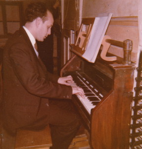Victor at the console of the Organ
